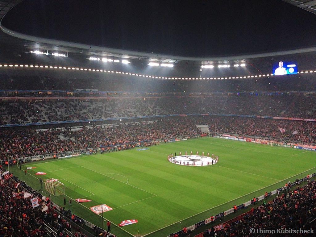 Spielbeginn Bayern