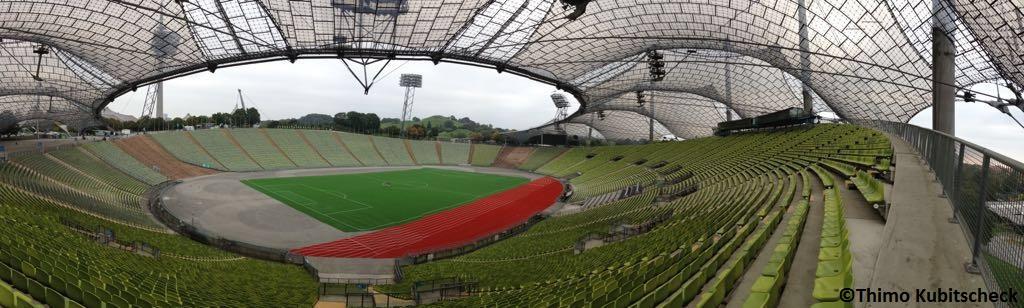 Ein Blick in das Olympiastadion