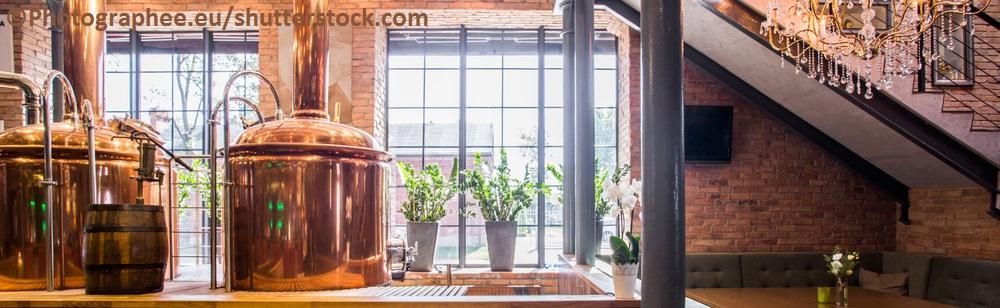 Ein Blick in eine Brauerei