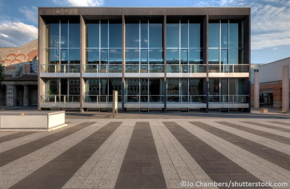 Ein Teil der Fassade des Germanischen Natinalmuseums